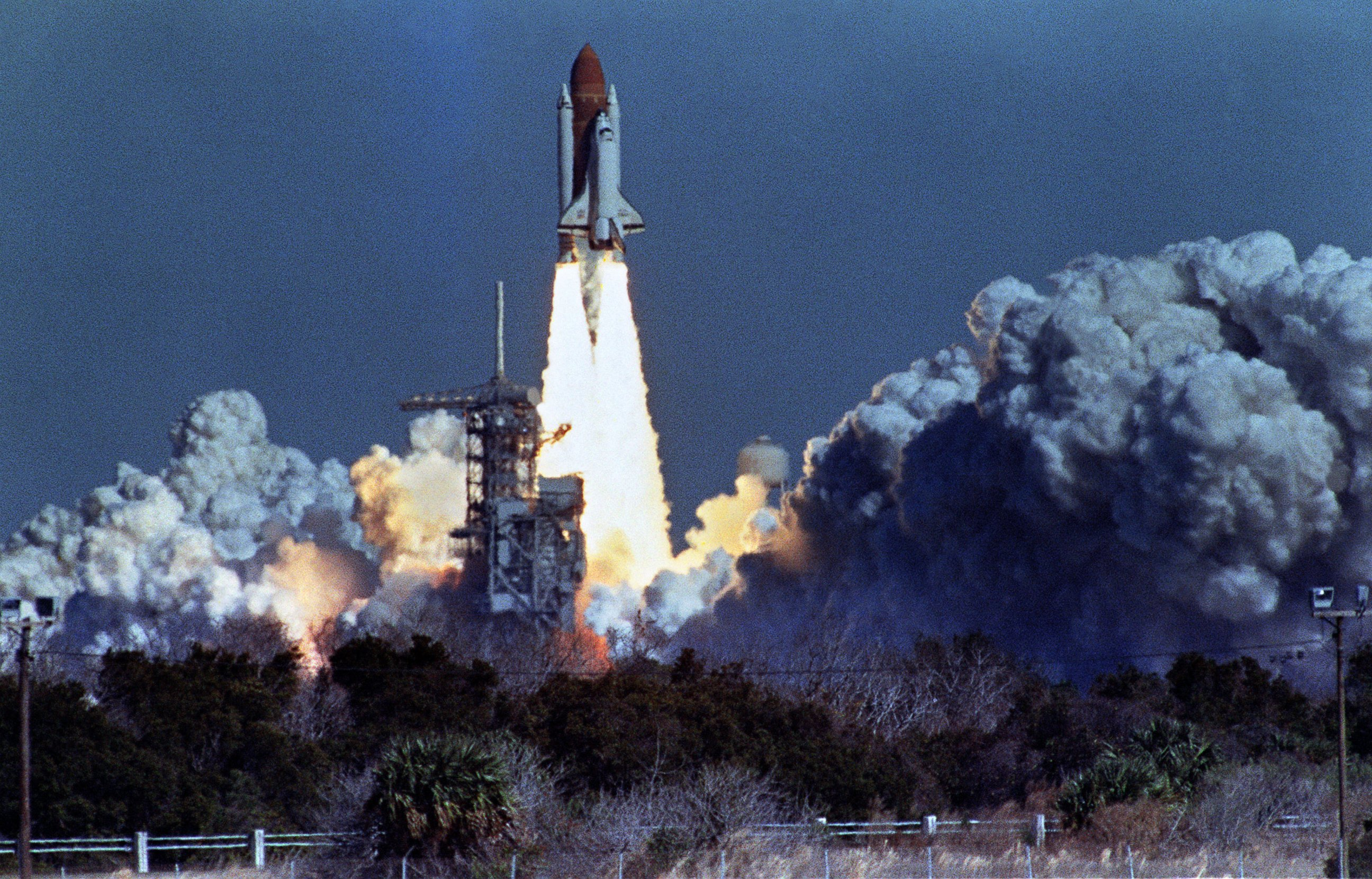 NASA lost seven of its own on the morning of Jan 28 1986 when a booster engine failed causing the Shuttle Challenger to break apart just 73 seconds after launch